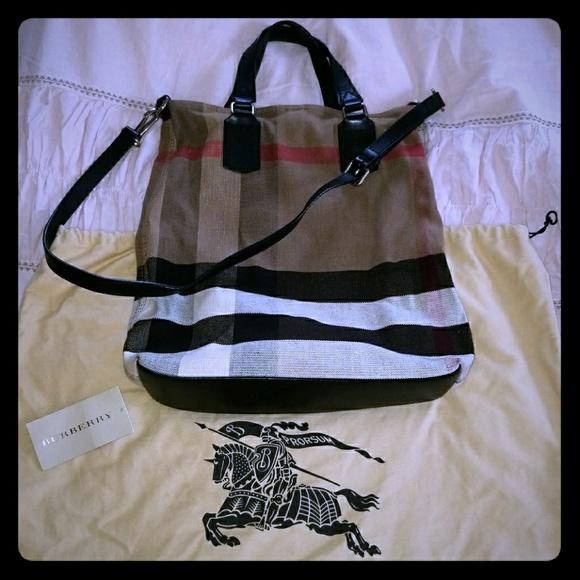 Burberry Handbags - Burberry Canvas Check Tottenham medium Tote 70ddb32746b52
